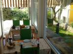 Breakfast in the veranda lake view