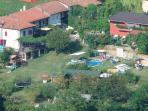 Group accommodation in private resort with pool