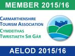 Proud to be gold members of the Carmarthenshire Tourism Association
