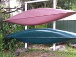 Canoe rack with new kayak