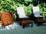 Your private patio for BBQ's and relaxing