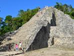 The Coba Ruins are one of the few remaining Mayan pyramids that you can climb to the top.