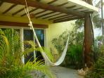 One of three private outdoor living spaces. Relax in a hammock, enjoy the breezes....