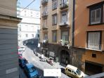 View on via Enrico de Marinis street