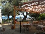 The beach restaurant/snack bar