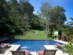 Swimming pool with direct access from second living room, most bedrooms and balcony
