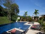 10 x 5 metre pool with Integral Jacuzzi, spacious sundeck and plenty of sun beds to soak up the sun