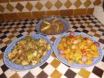 Salades marocaines, une spécialité de notre maison.