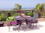 Dining on our terrace with one of the best views in Paphos