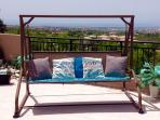 Our swing chair is the perfect place to relax