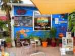 Cafe LeLu's for breakfast, cup of coffee, and live music - right in Siesta Key Village!