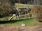 Yard with Mini Swing Set