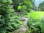 Spacious garden and lawns