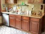 North Wall Kitchen, Stainless Appliances inc dishwasher