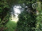 The footpath to West Malling is opposite our cottage