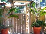 Enter your private Palm Arbor Suite Garden