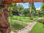 Chalet Tropical Village : view of the garden