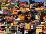 Colourful houses in San Sebastian