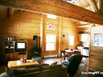 Authentice log home feel.