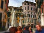 The square of Piazza delle Erbe where everybody feels young again