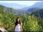 A view going to Whistler, BC