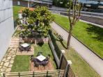 Vista general jardín/terraza