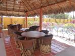 Poolside Palapa seating
