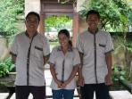 Villa staff - Nuoman, Wayan, Yanik