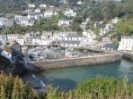 Picturesque harbour at Polperro
