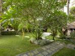 Spacious Garden in front of Living Room at Red Palms Villa, Bali