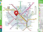 Subway map of Milan by metro DOMODOSSOLA which is within walking distance from home.