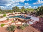 Yes, your own private resort style pool, spa with plenty of seating.