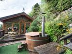 wood burning hottub  snorkle stove extra to hire ask mark