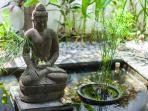 Buddha statue with pond