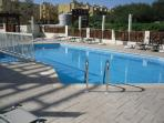 NEWLY REFURBISHED POOL WITH PLENTY OF SUN BEDS AND PARASOLS