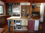 Country style kitchen island bench