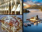 Corfu town and corfiot dishes