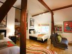 View of our twin bedded room with the possiblity of additional use of the sofa bed.