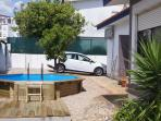 The pool with sundeck. Private parking space for at least 2 cars.