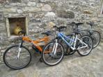 Bikes provided for guests to explore the surrounding countryside
