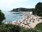 Closest Costa Brava beaches are 30 minutes away - this is Sa Conca near St Feliu de Guixols