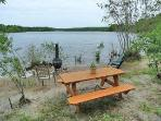 Ample private beach with your picnic table.