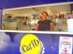 'Sylvia' one of the vendors on beach