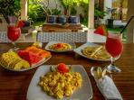complimentary breakfast with fresh local fruits