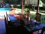 the view from the outside lounge. ' Breakfast is ready on the patio'....