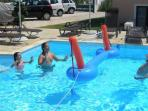 Kids have fun in the pool