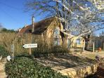 A wintery but beautiful Les Chouettes The French Country Cottage