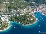 Hvar town coast panoramic