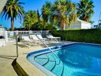 Catch sun on the pool deck