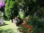 Un rincon del jardín